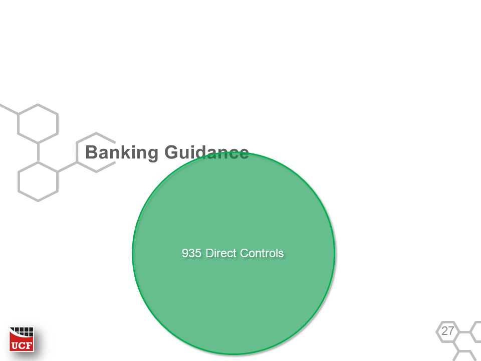 Banking Guidance 27 935 Direct Controls