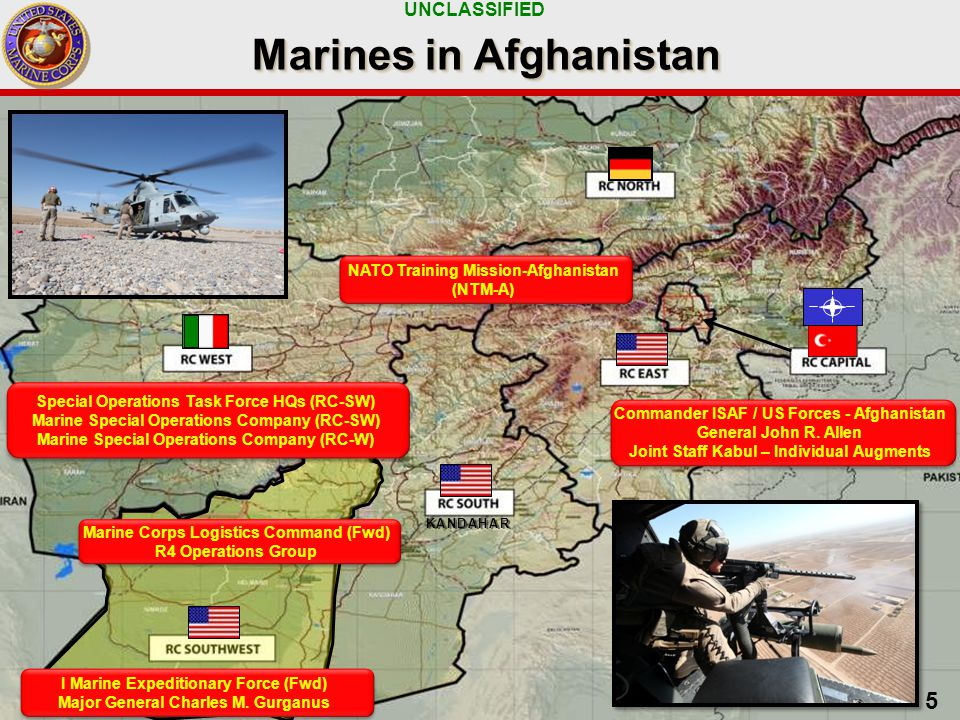 UNCLASSIFIED 6 Security Operations in RC(SW) Transition Process Begins Implemented in 5 tranches  Tranche 1 – Jul 2011  Tranche 2 – Dec 2011  Tranche 3 – May 2012  Tranche 4,5 – TBD Security Force Assistance  20 Marines/team average  Advise Afghan Forces  Afghan Border Police  Afghan Uniformed Police  Afghan National Army Governance/Development Leadership in 13/14 Helmand districts Regional Command (Southwest) Regional Command (Southwest) ANSF - Taking the Lead Partnering