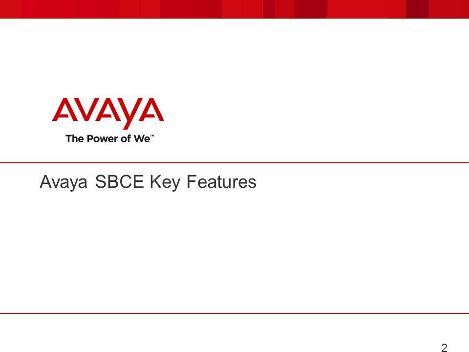 Avaya SBCE Key Features 20