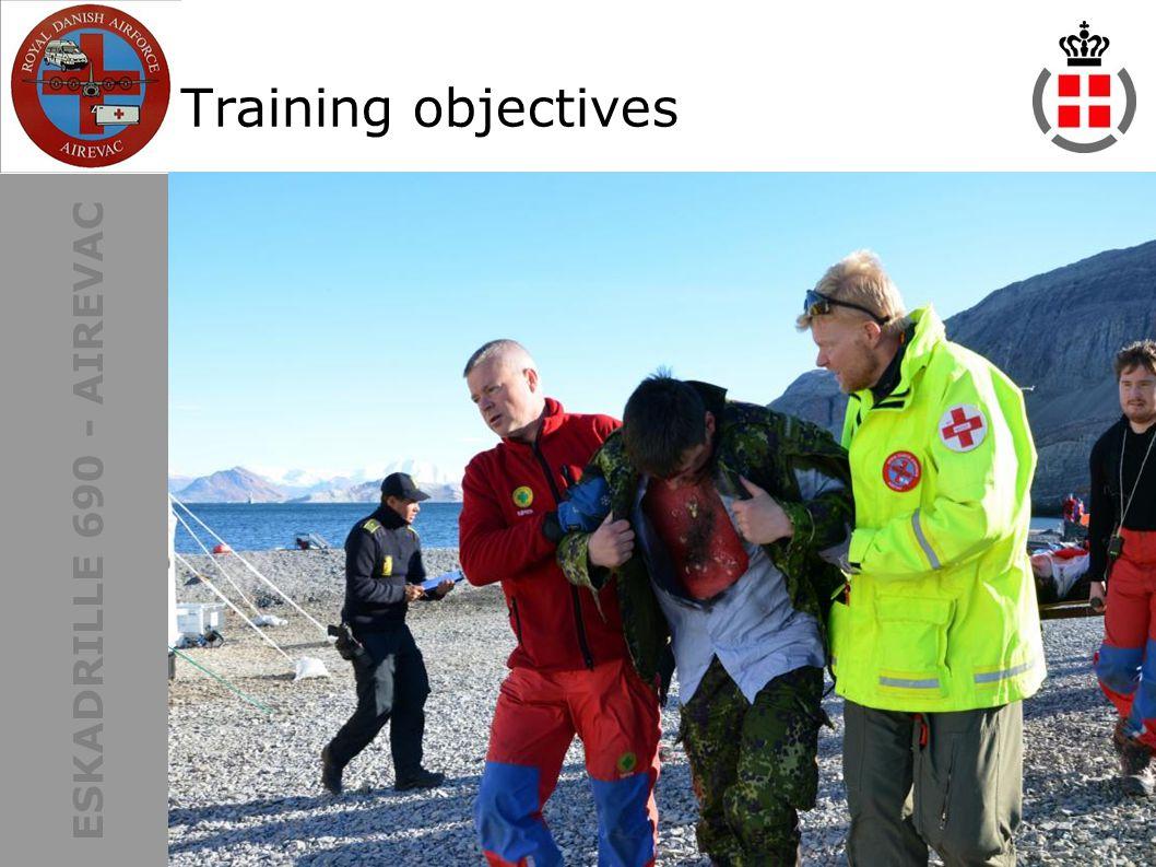 ESKADRILLE 690 - AIREVAC Training objectives