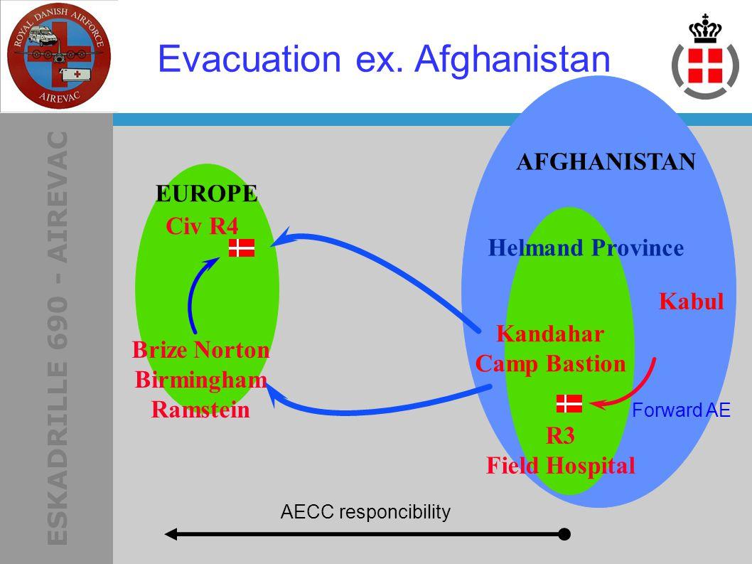 ESKADRILLE 690 - AIREVAC AFGHANISTAN Helmand Province R3 Field Hospital Kandahar Camp Bastion Brize Norton Birmingham Ramstein AECC responcibility EUROPE Evacuation ex.