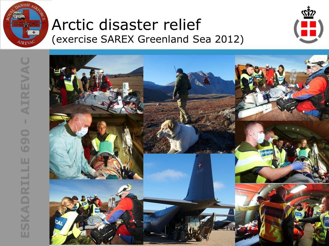 ESKADRILLE 690 - AIREVAC Arctic disaster relief (exercise SAREX Greenland Sea 2012)