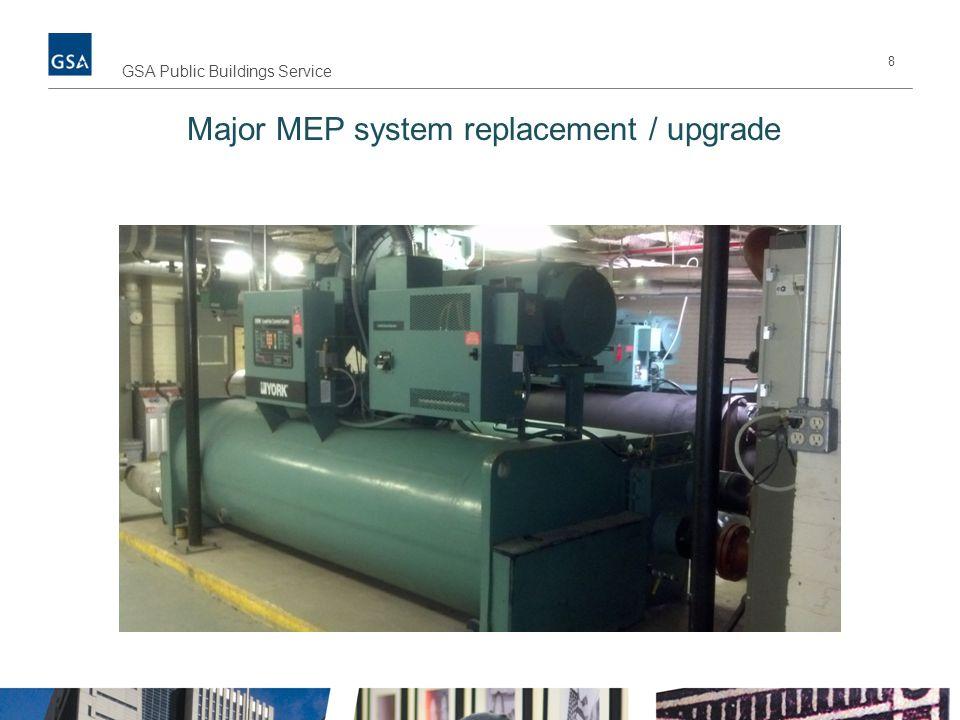 8 GSA Public Buildings Service Major MEP system replacement / upgrade