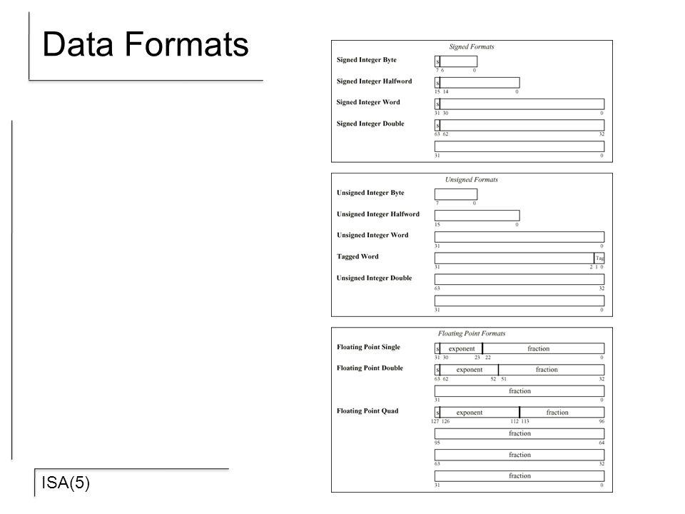 ISA(5) Data Formats