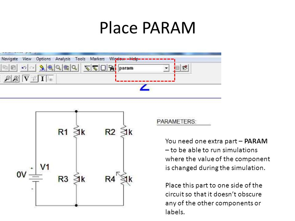 Create a Variable Name Double click on the word PARAMETERS, which will cause PARAMETERS: to be highlighted in read and the PartName param pop-up window to open.