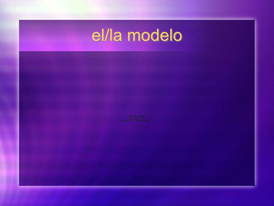 el/la modelo