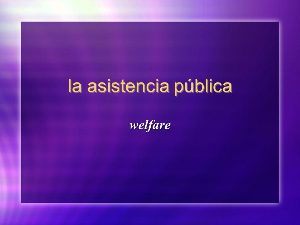 la asistencia pública welfare