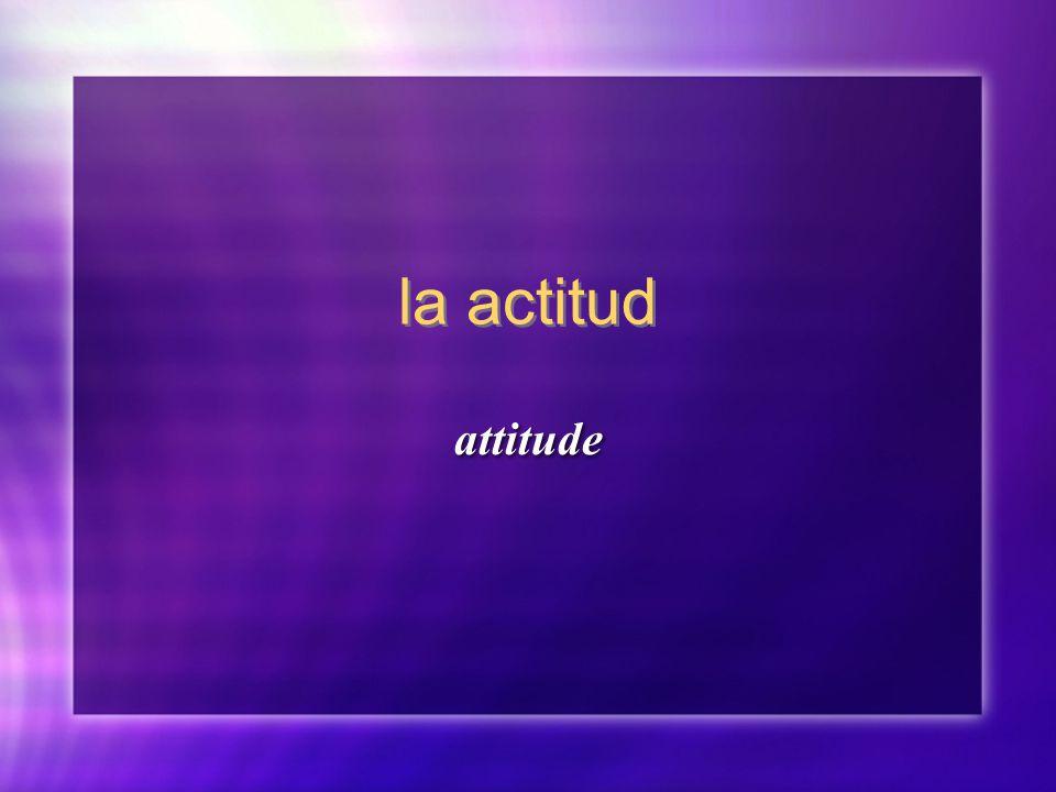 la actitud attitude