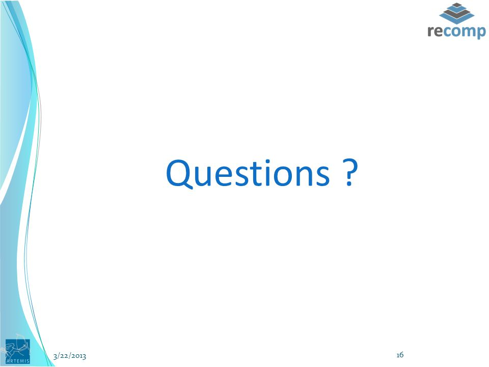Questions ? 3/22/2013 16