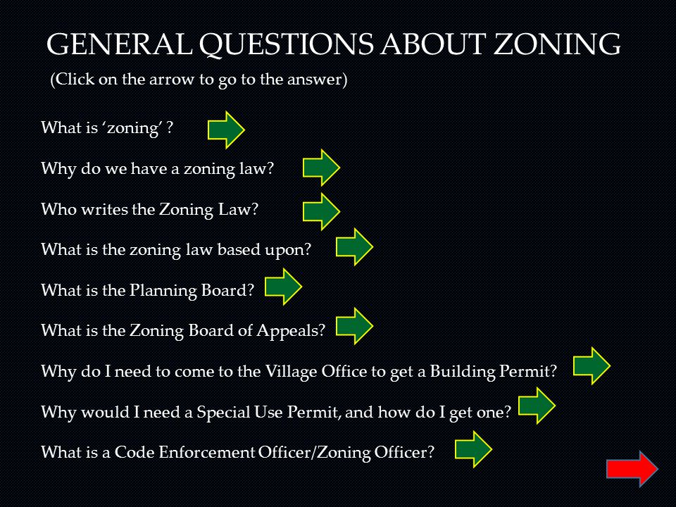 GENERAL QUESTIONS ABOUT ZONING What is 'zoning' . Why do we have a zoning law.