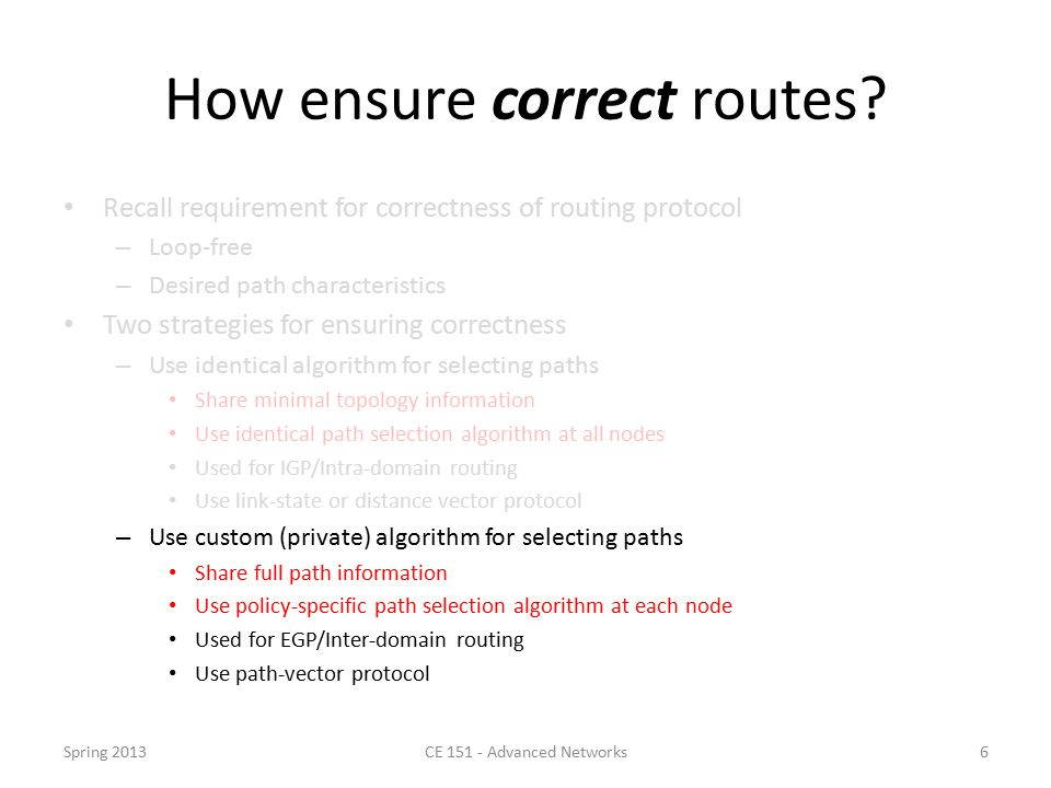 How ensure correct routes.