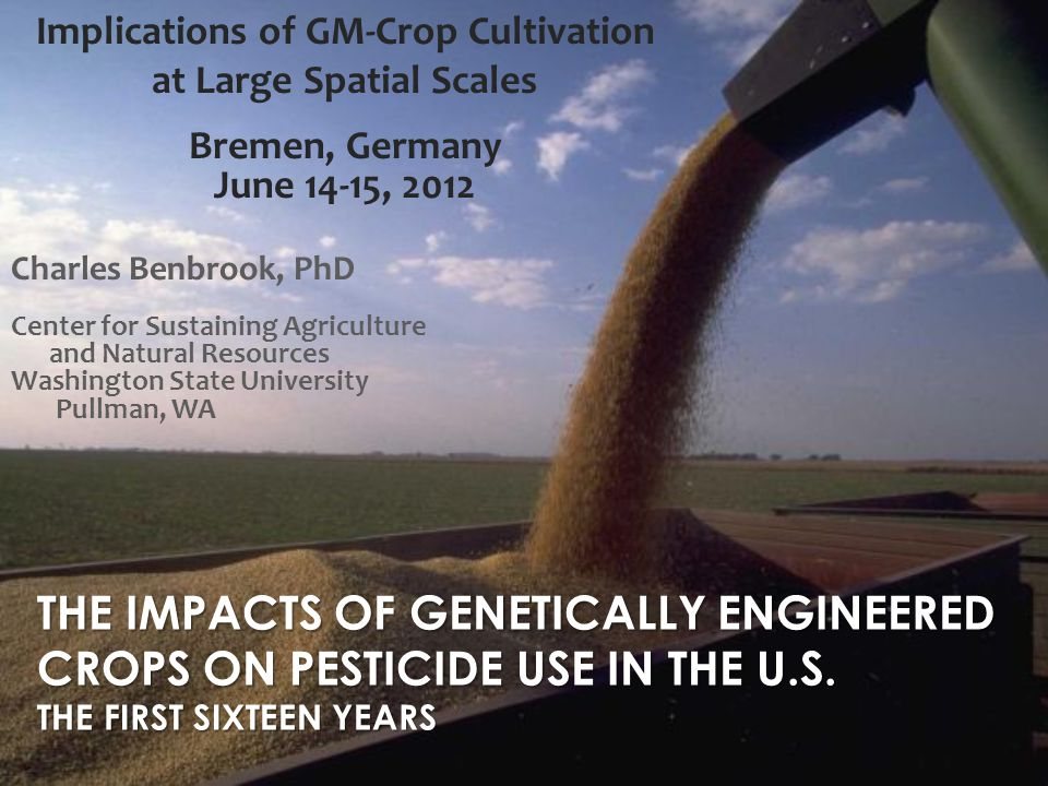 Vulnerable GE Crops Require Higher-Risk and High-Cost Seed Treatment Mixing multiple active ingredients in seed treatments increases the risk of resistance emerging in a variety of soil borne insects and pathogens Nicotinyl seed treatments likely major risk factor for honey bee/pollinator Colony Collapse Disorder (CCD) Michael E.
