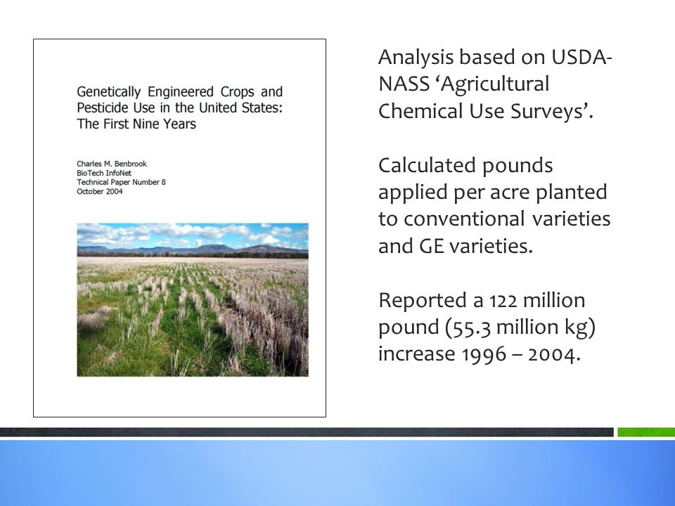 Analysis based on USDA- NASS 'Agricultural Chemical Use Surveys'.