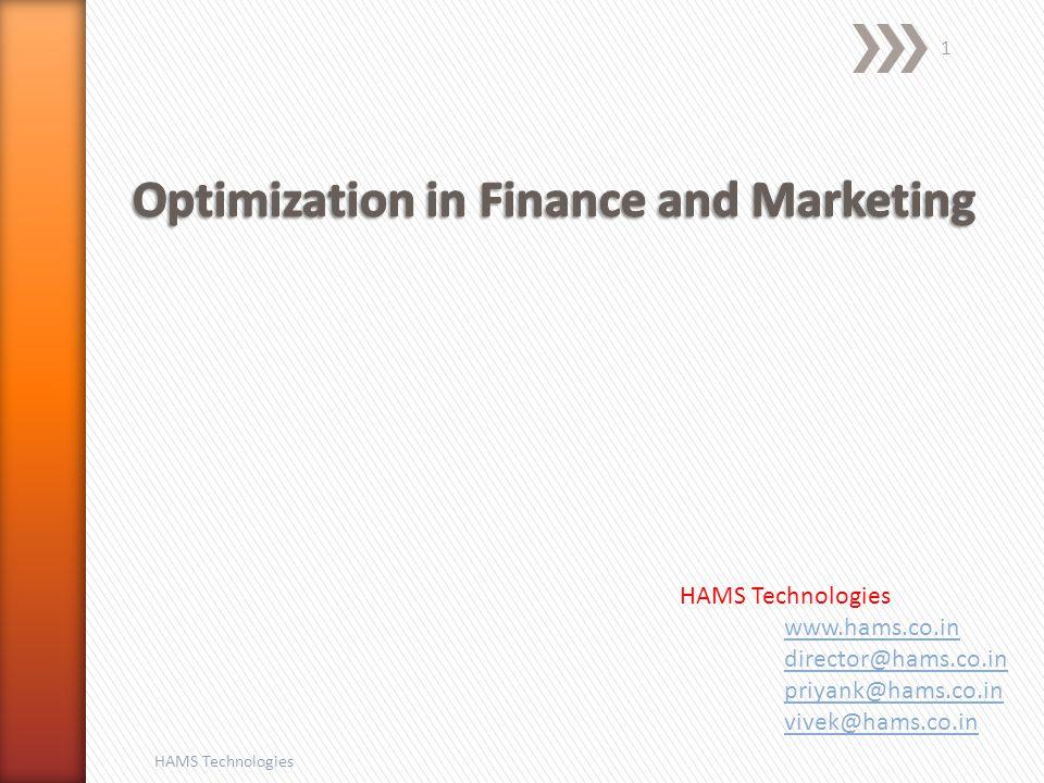 HAMS Technologies 1 www.hams.co.in director@hams.co.in priyank@hams.co.in vivek@hams.co.in