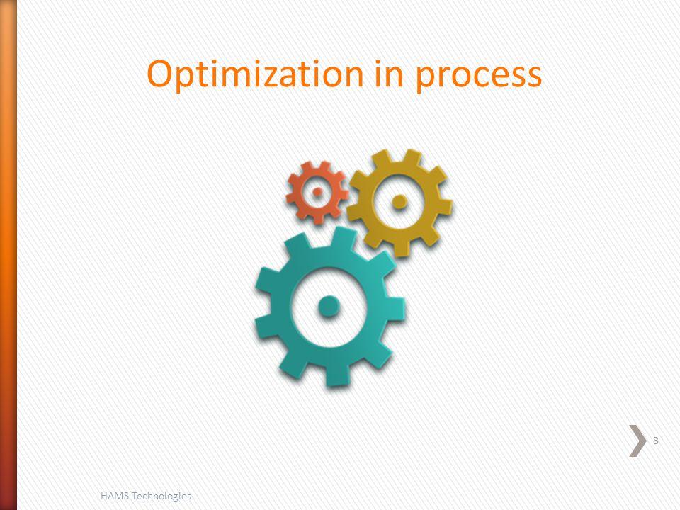 8 HAMS Technologies Optimization in process