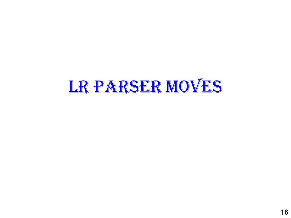 LR parser moves 16