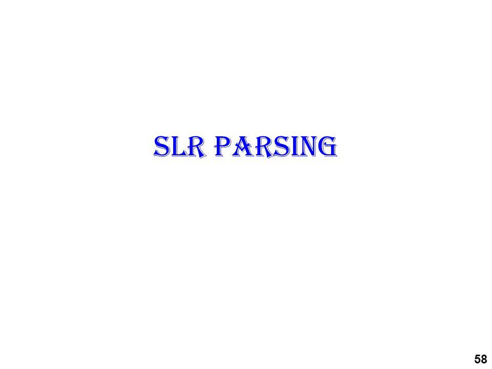 SLR parsing 58