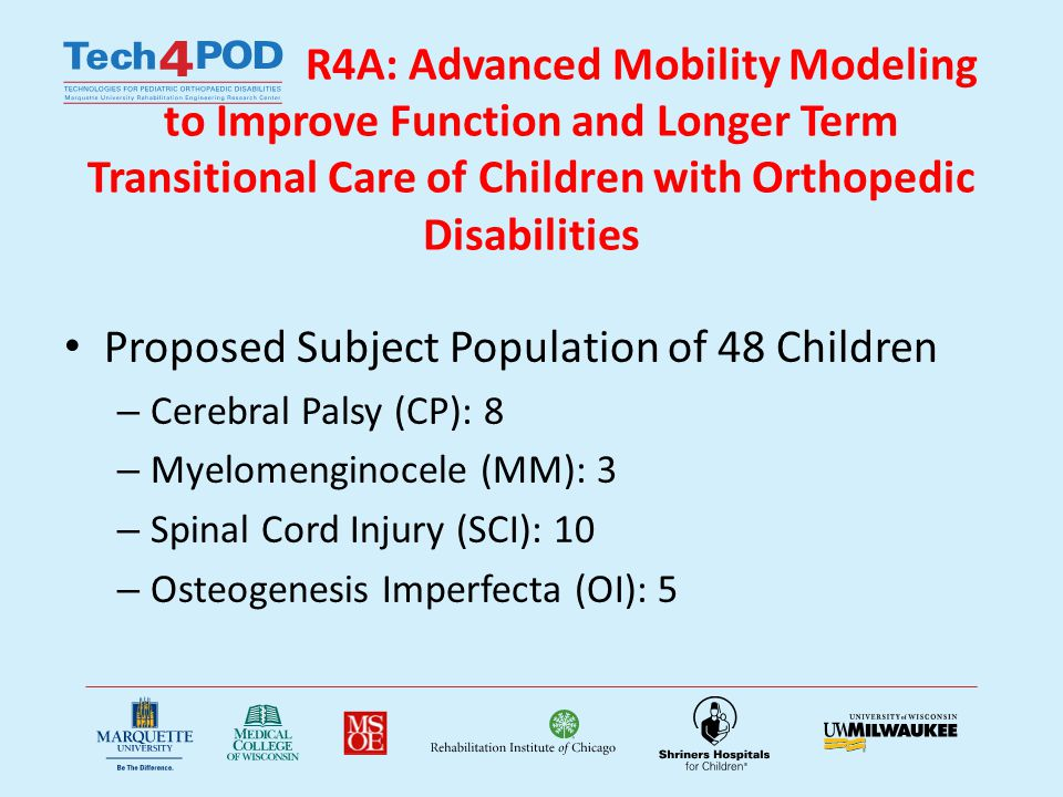 R4 A UE Hypotheses 1.Proximal upper extremity joint demands are significantly greater than distal joint demands during assisted mobility in children using walkers, crutches, and wheelchairs