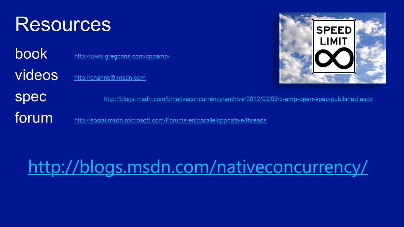 http://blogs.msdn.com/nativeconcurrency/