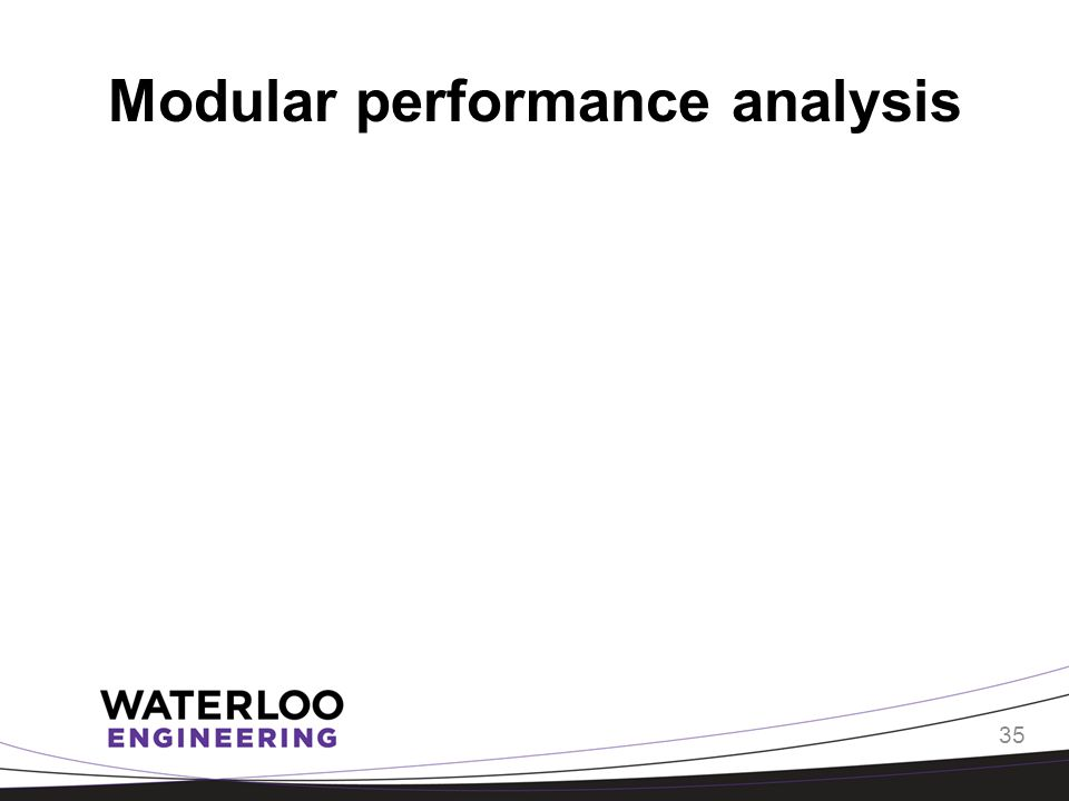 Modular performance analysis 35