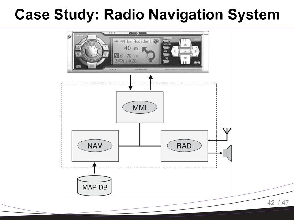 / 47 Case Study: Radio Navigation System 42
