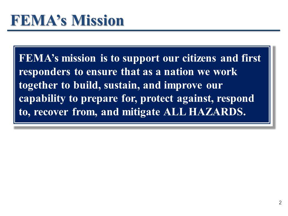 2 FEMA's Mission