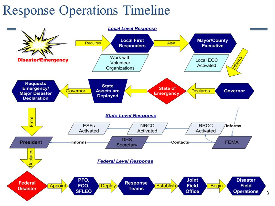 3 Response Operations Timeline
