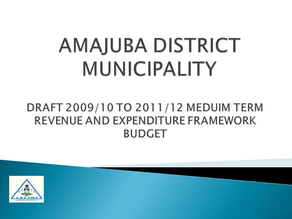 DRAFT 2009/10 TO 2011/12 MEDUIM TERM REVENUE AND EXPENDITURE FRAMEWORK BUDGET