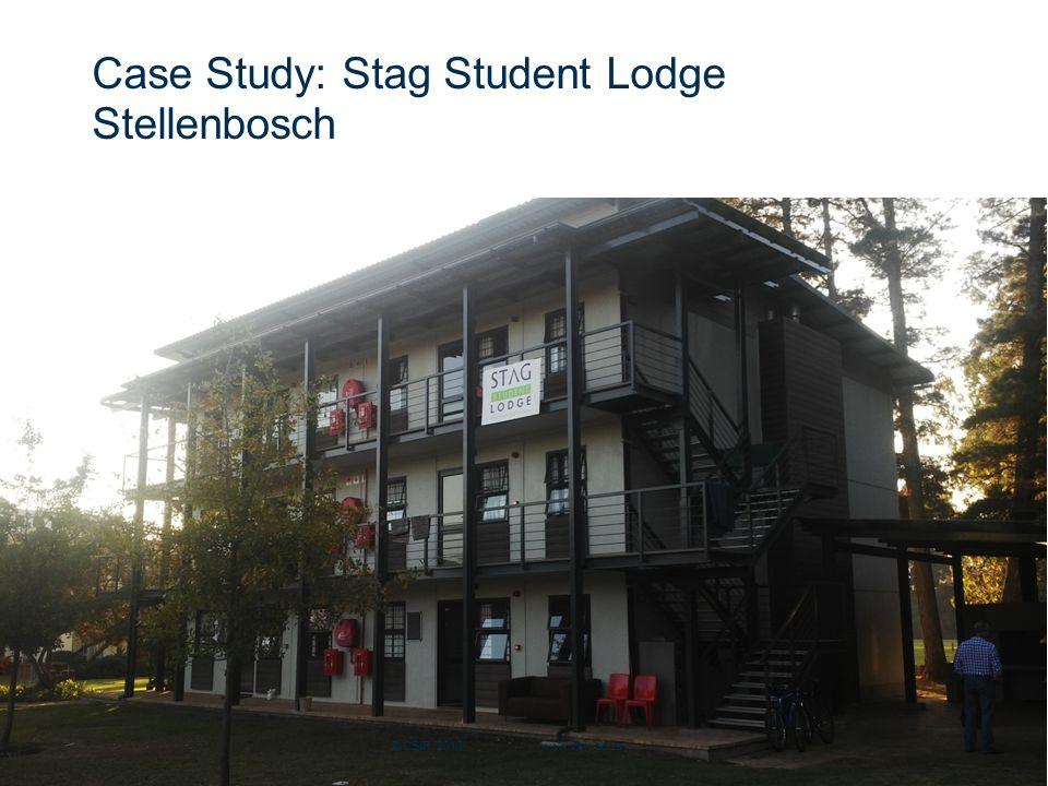 Slide 17 Case Study: Stag Student Lodge Stellenbosch © CSIR 2013 www.csir.co.za