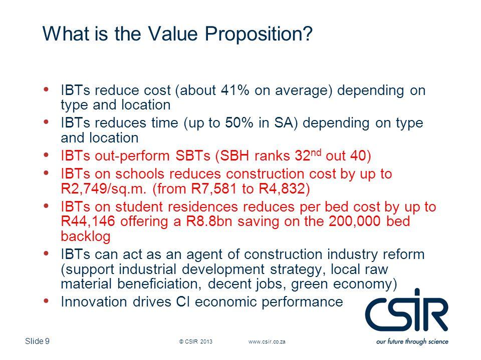 Slide 20 Case Study: CSIR Innovation Site, Pretoria © CSIR 2006 www.csir.co.za
