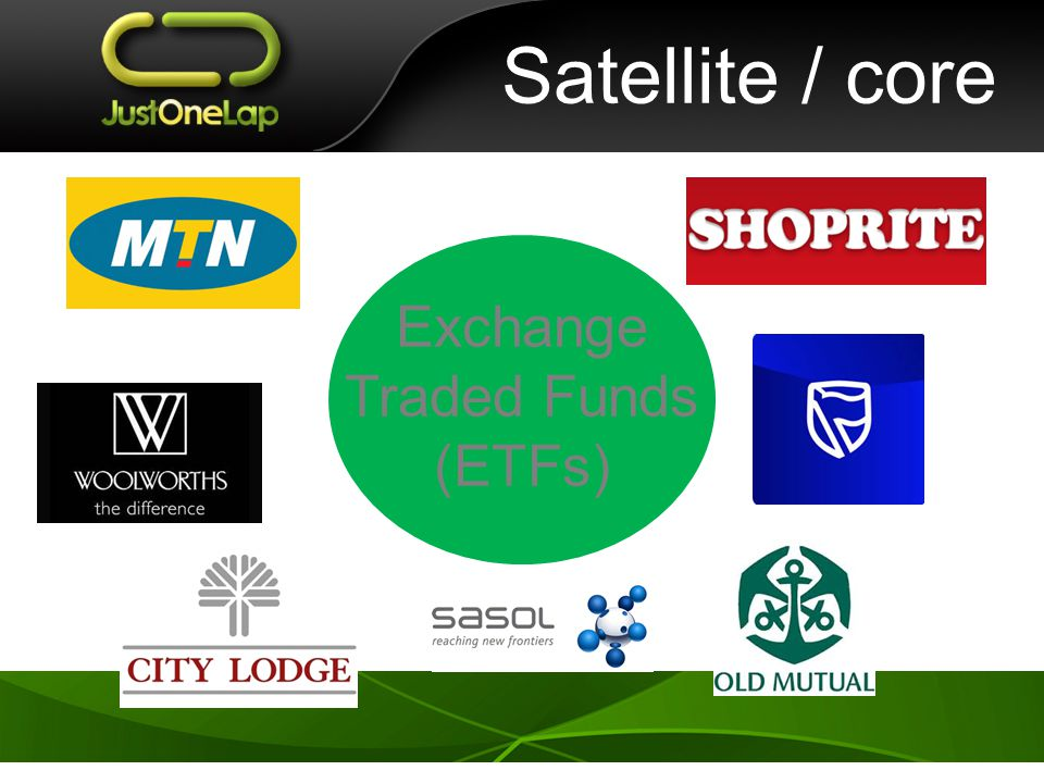Satellite / core Exchange Traded Funds (ETFs)