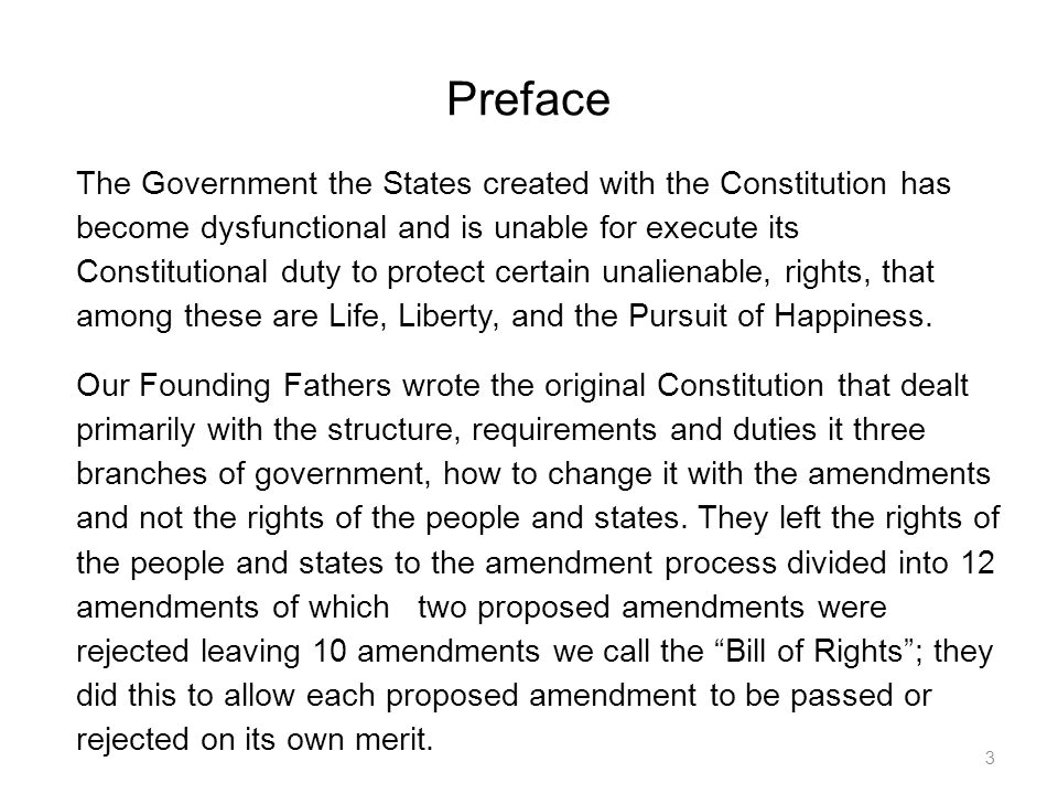 1.The States from having a Convention to write a Proposed Constitutional Amendment.