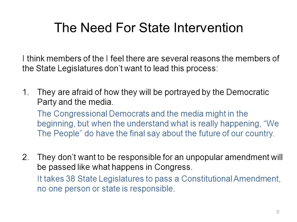 Constitutional Amendment Content Proposed Constitution Amendment 2 29 ---------------BEGIN--------------- The Purpose of this amendment is to protect the Constitution from Judicial Activism and make it easier for Congress to make sure legislation is Constitutional by narrowing the room for interpretation of the Constitutional Amendment.