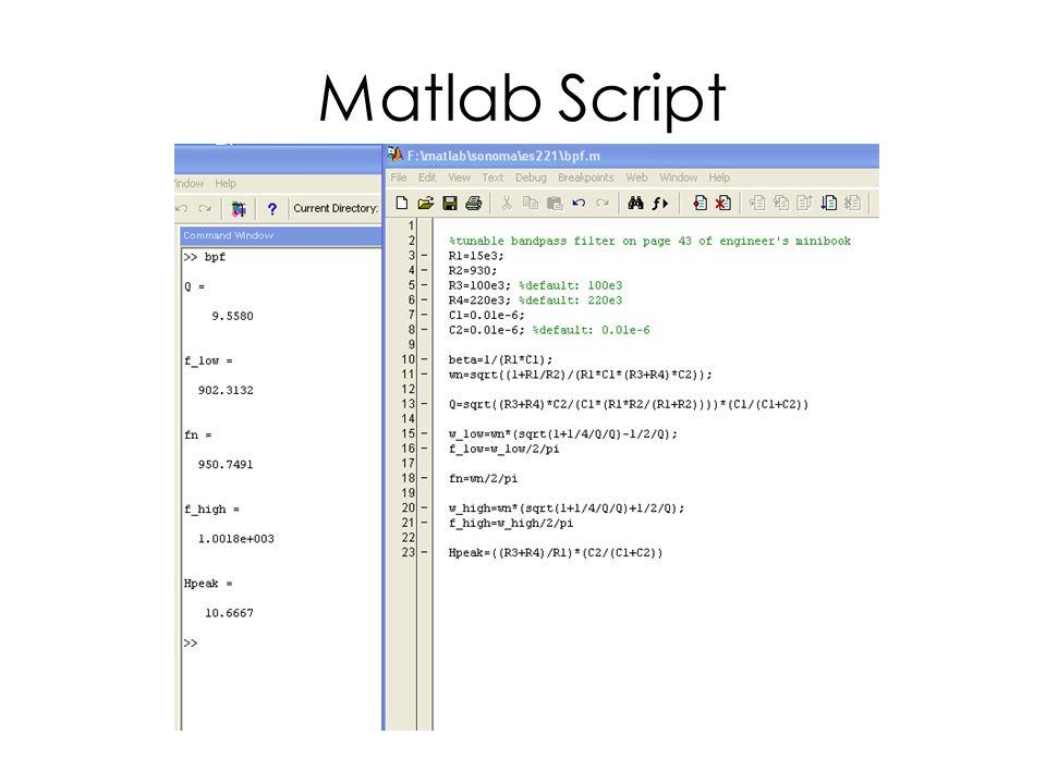 Matlab Script