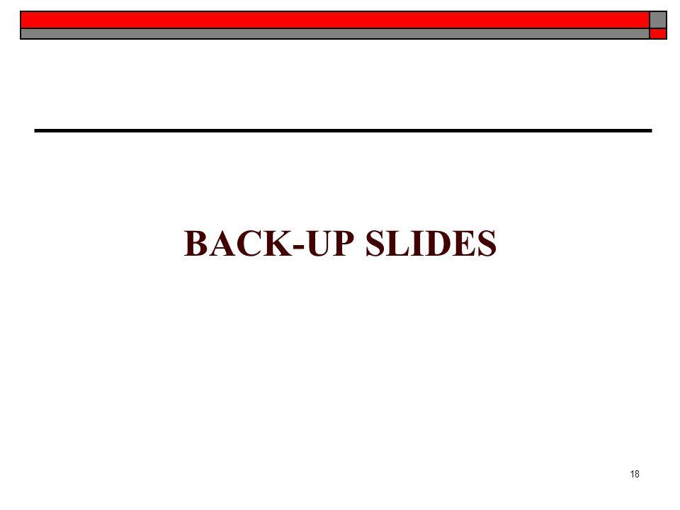 BACK-UP SLIDES 18