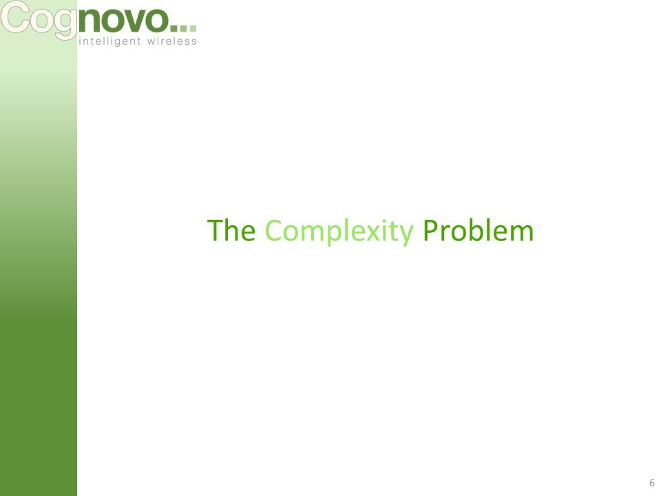 6 The Complexity Problem