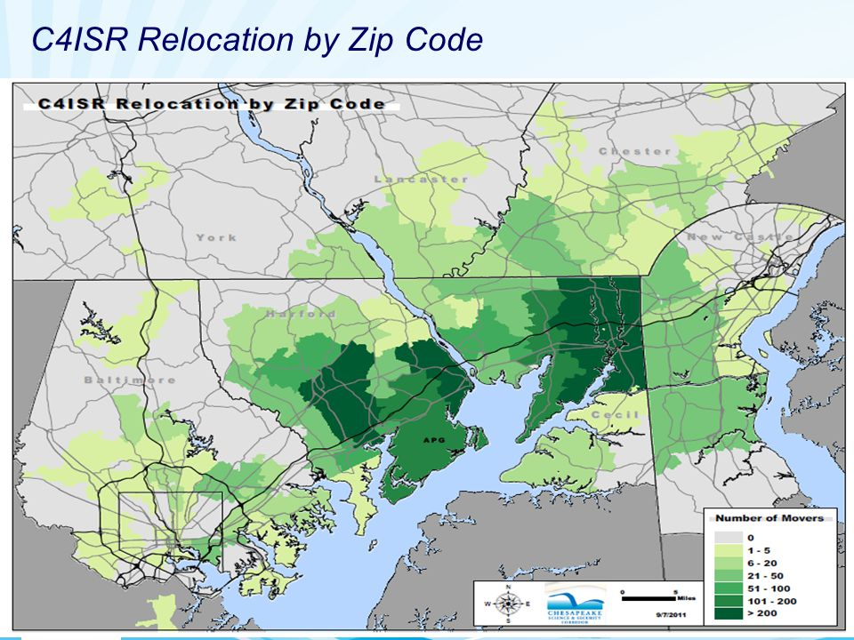 Sustaining the Mission C4ISR Relocation by Zip Code