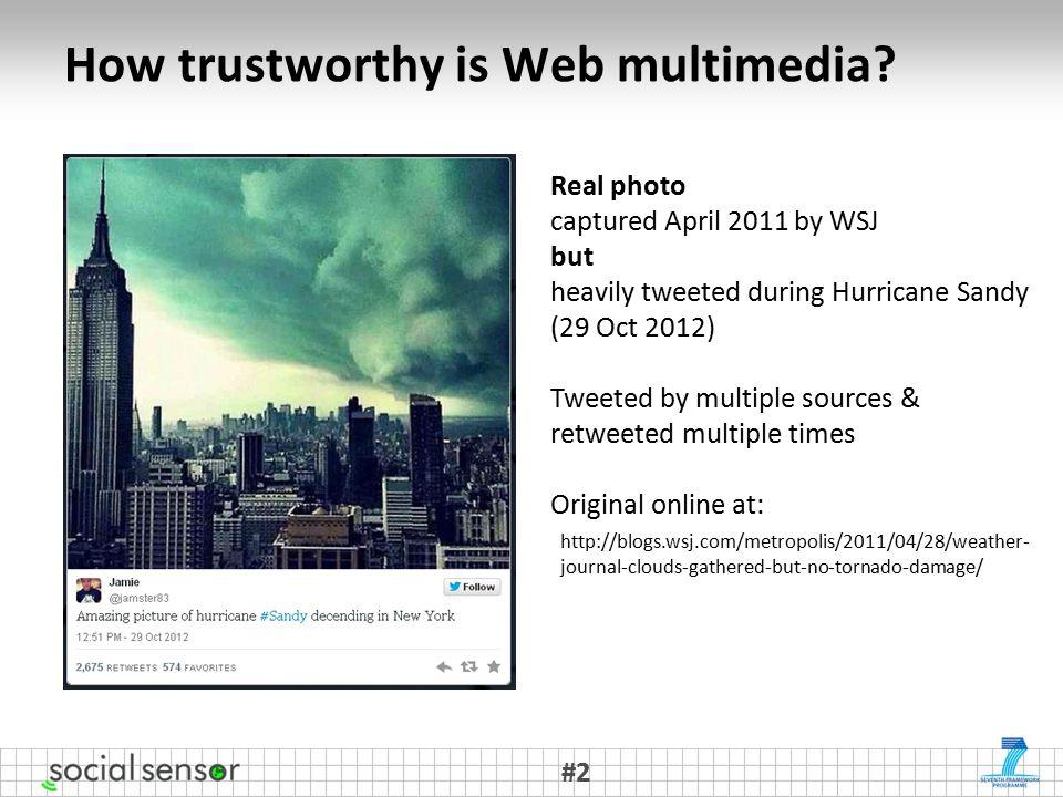 How trustworthy is Web multimedia.
