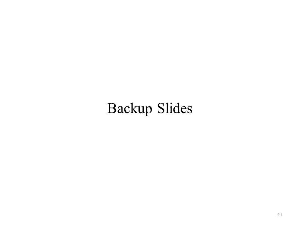Backup Slides 44