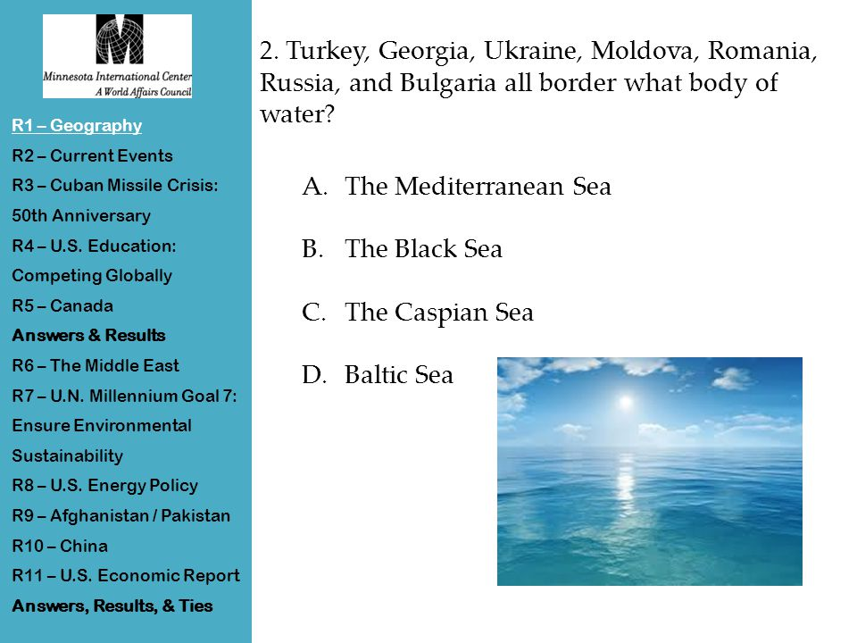 Round 10 Answers R1 – Geography R2 – Current Events R3 – Cuban Missile Crisis: 50th Anniversary R4 – U.S.