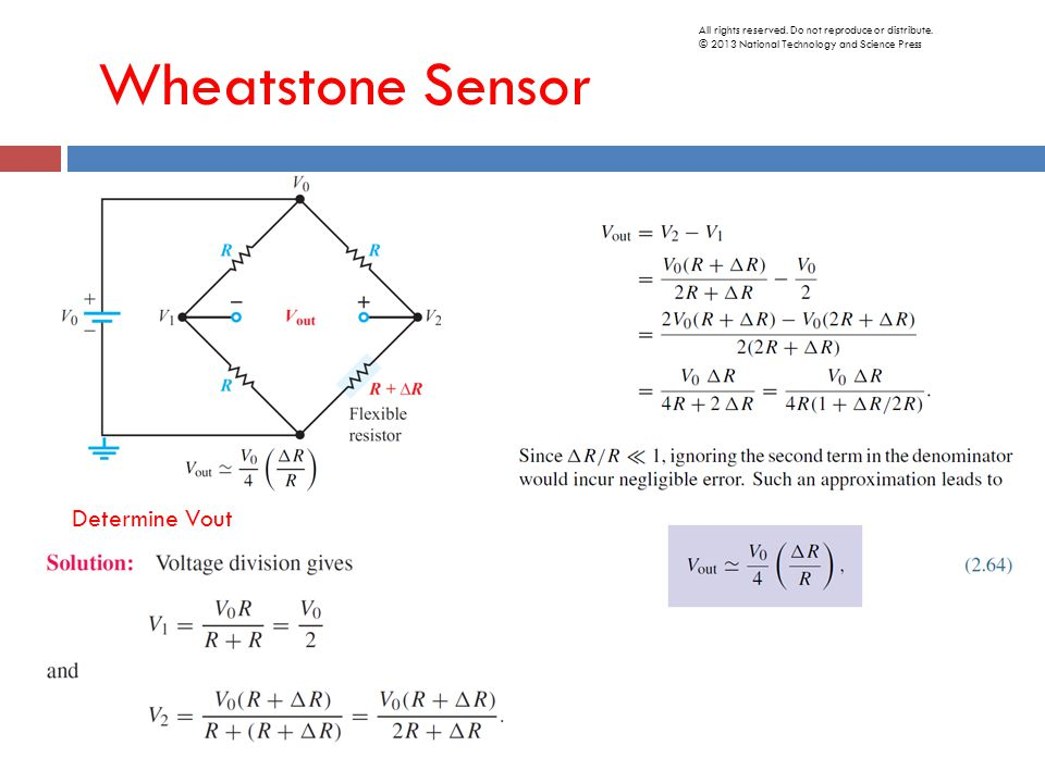 Wheatstone Sensor Determine Vout All rights reserved.