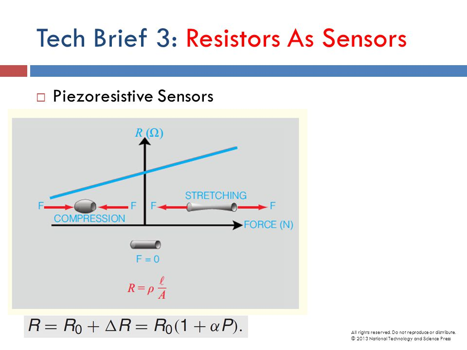 Tech Brief 3: Resistors As Sensors  Piezoresistive Sensors All rights reserved.