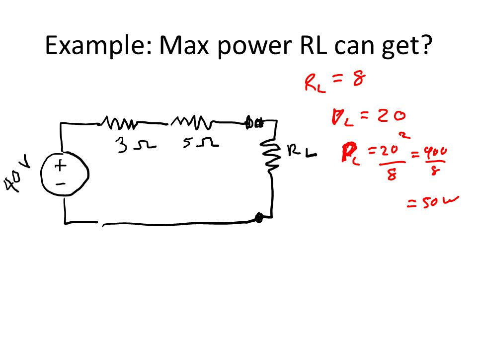 Example: Max power RL can get?