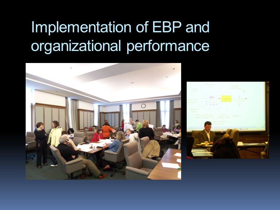 Implementation of EBP and organizational performance