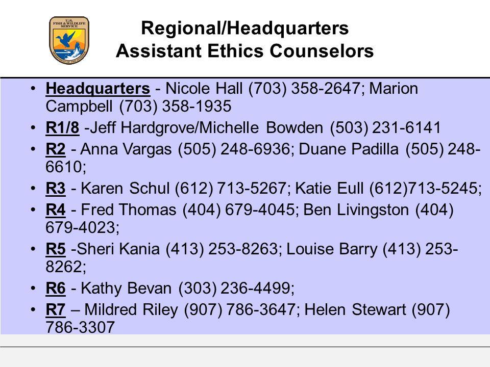 Headquarters - Nicole Hall (703) 358-2647; Marion Campbell (703) 358-1935 R1/8 -Jeff Hardgrove/Michelle Bowden (503) 231-6141 R2 - Anna Vargas (505) 2