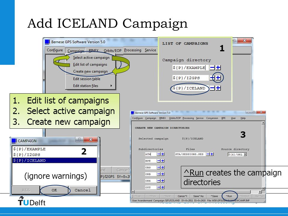 19 ICELAND 2013 GPS Processing ICELAND.STA Renaming of station names Receiver, antenna, antenna height information