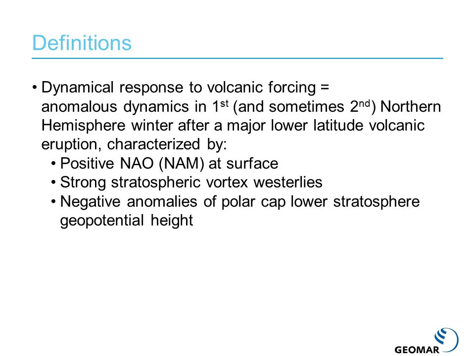 ECHAM: GCM developed at MPI-M, Hamburg Middle atmosphere version: 39 vertical levels up to 0.01 hPa (~80 km) T42 horizontal resolution Climatological sea surface temperatures, no QBO, no chemistry HAM: Aerosol microphysical module Modified for simulation of stratospheric volcanic aerosols Models aerosol growth, radiative effects, eventual removal MAECHAM5-HAM Inject SO 2 at 24 km Aerosol growth Radiative effects Aerosol transport via atmospheric circulation Transport to troposphere, rainout.