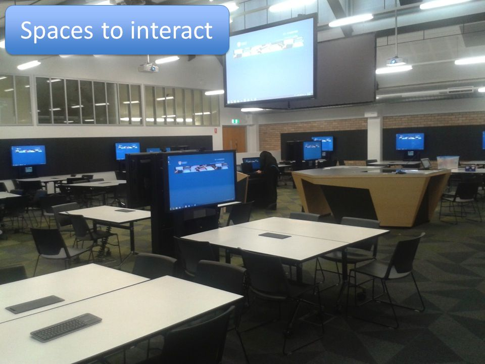 Spaces to interact