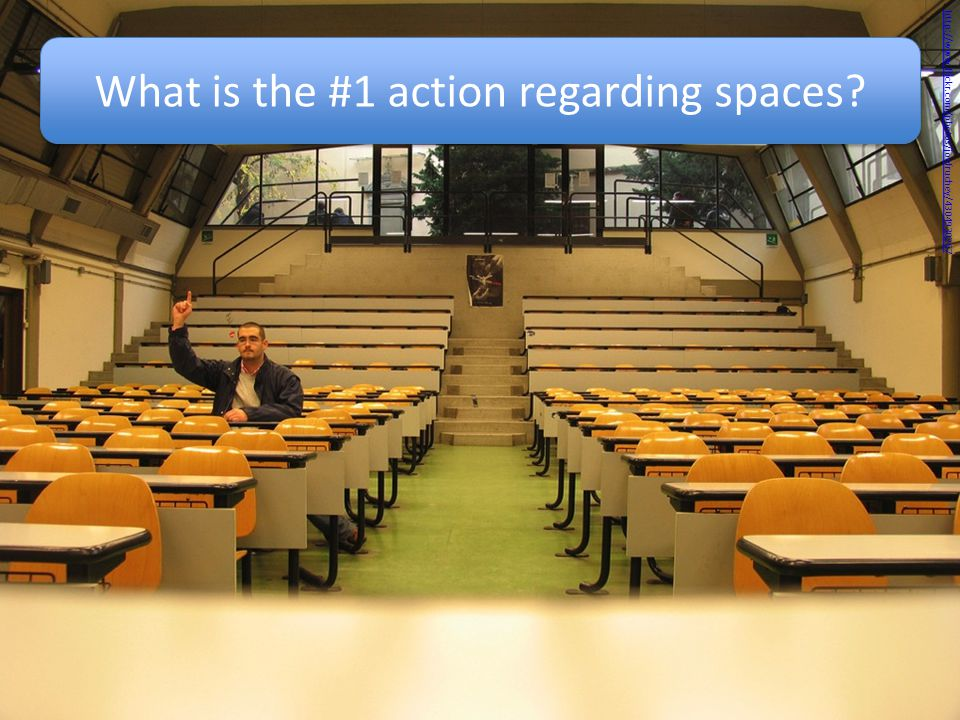 What is the #1 action regarding spaces http://www.flickr.com/photos/joefruchey/4304930267