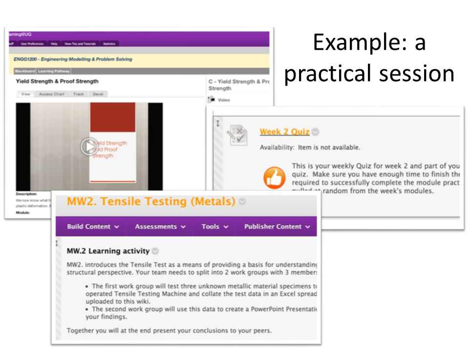 Example: a practical session